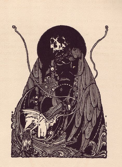 Illustrated by Harry Clarke for Tales of Mystery and Imagination by E. A. Poe, 1923