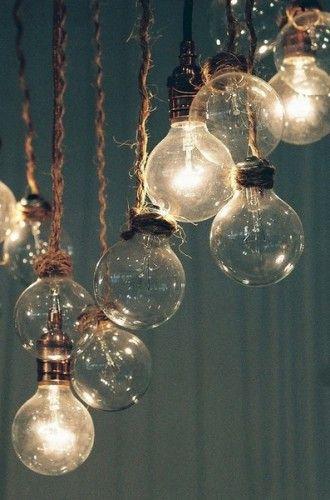 ampoules, pendentif, fil, rustique, vintage