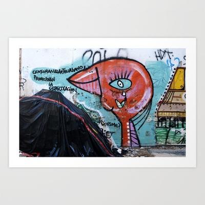 Censuran el arte urbano Art Print by Plasmodi - $16.00