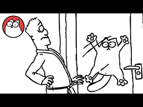 Let Me In! - Simon's Cat. If you ever hear me meowing and see me acting weird, you can thank this cat. I'M OBSESSED!