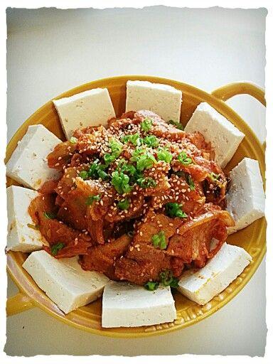 Tofu kimchi (두부 김치)