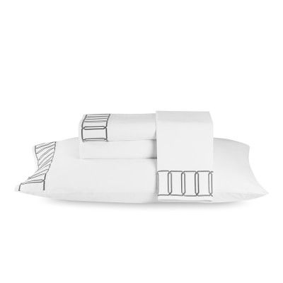 Grand Cancello Bedding, Sheet Set, King, Grey