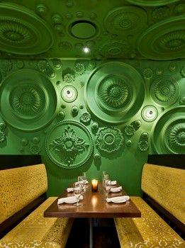 Barbatella - Naples, Florida: Bar Design, Ceilings Rose, Ceilings Medallions, Interiors, Wall Treatments, Naples Florida, Restaurant, Wall Texture, Wall Ideas