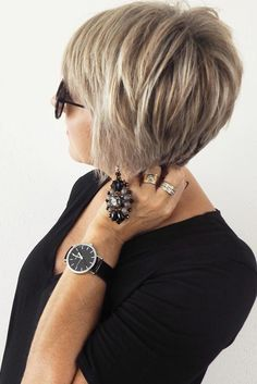 Simple Short Hairstyles for Women Over 50 ★ See more: