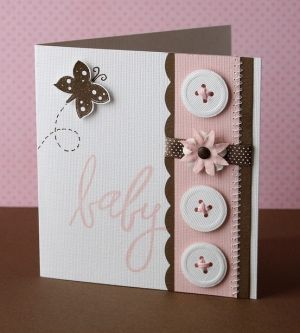 Sweet Baby Card...with buttons...Janica.