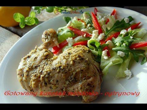 Gotowany kurczak miodowo - cytrynowy