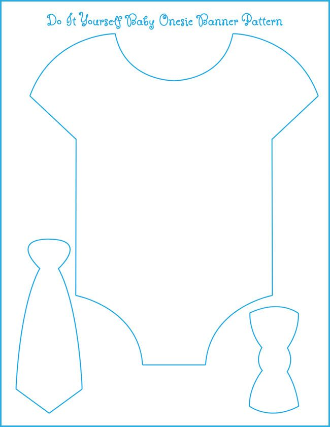 Template for our onesie bow tie banner all we need is to for Baby shower decoration templates