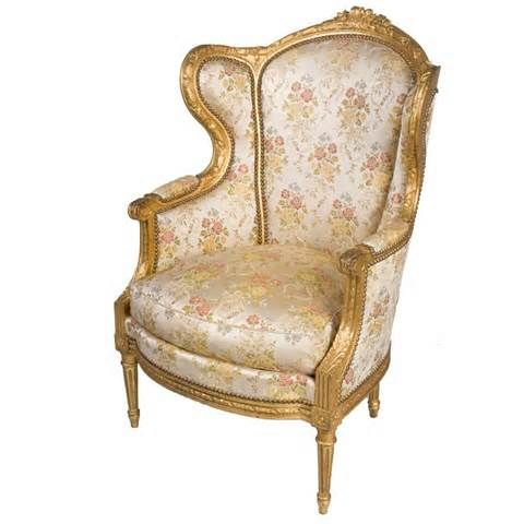 View this item and discover similar wingback chairs for sale at   This  fabulous Louis XVI Style Giltwood Bergere Armchair is upholstered in silk  with floral  32 best Furniture   Louis XVI images on Pinterest   Louis xvi  . Louis Xvi Style Furniture For Sale. Home Design Ideas