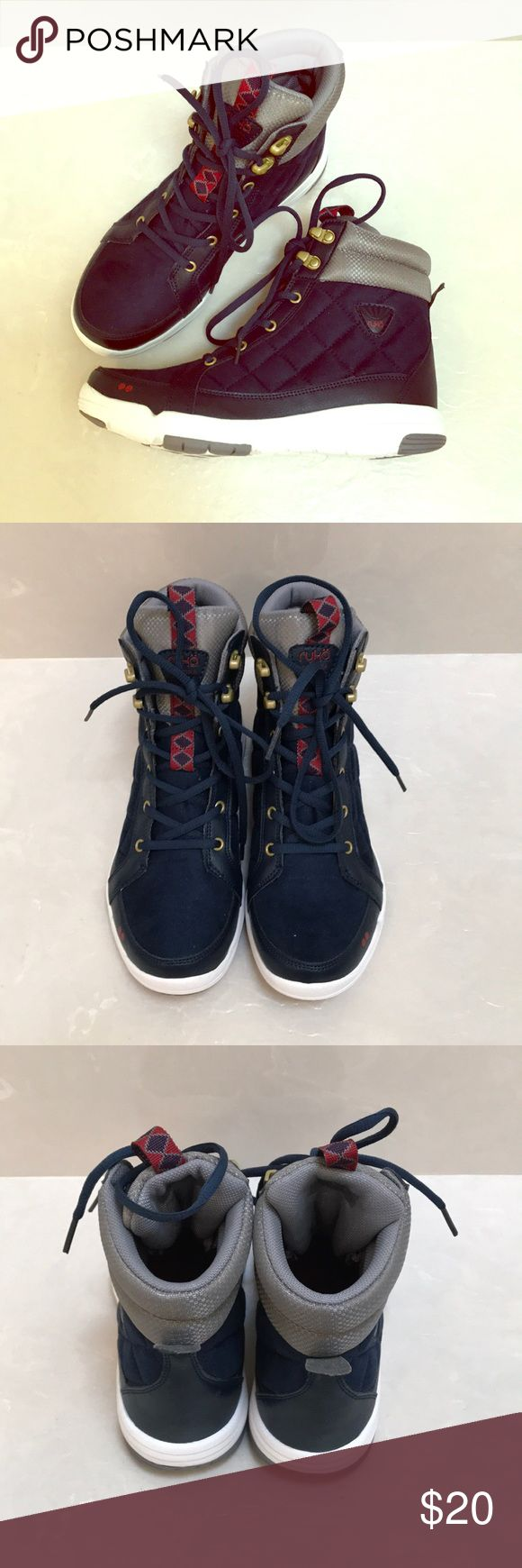 "Women's boots, brand new, size 7.5 Brand new""Ryka"" boots, super light, navy with red accents, size 7.5 Ryka Shoes Ankle Boots & Booties"