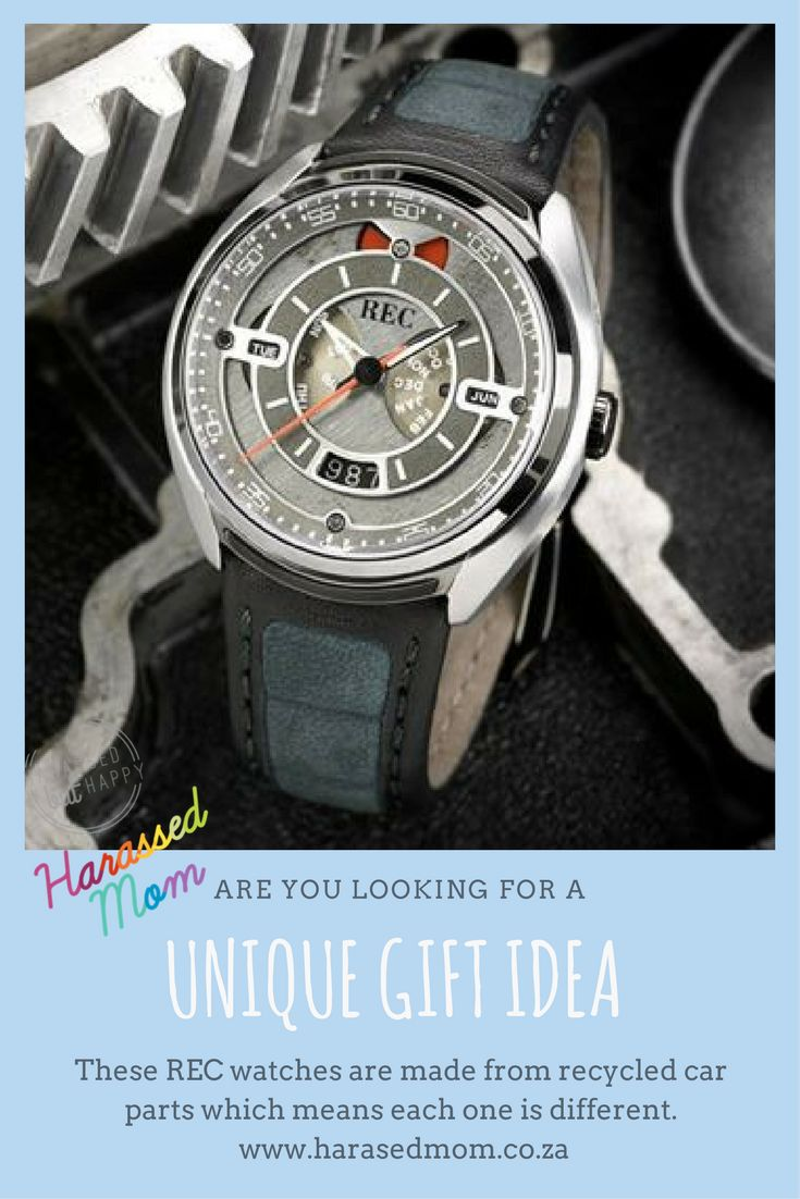 If you are looking for a unique gift idea for your partner, then these REC watches are perfect. They are made from recycled car parts making each watch unique.