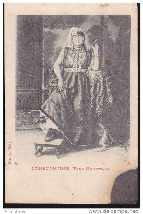 CPA - (Algérie) Constantine - Type Mauresque (femme Fumant La Cigarette) - Algérie