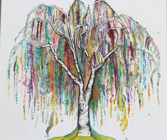 Tree Print of Original Watercolor Painting