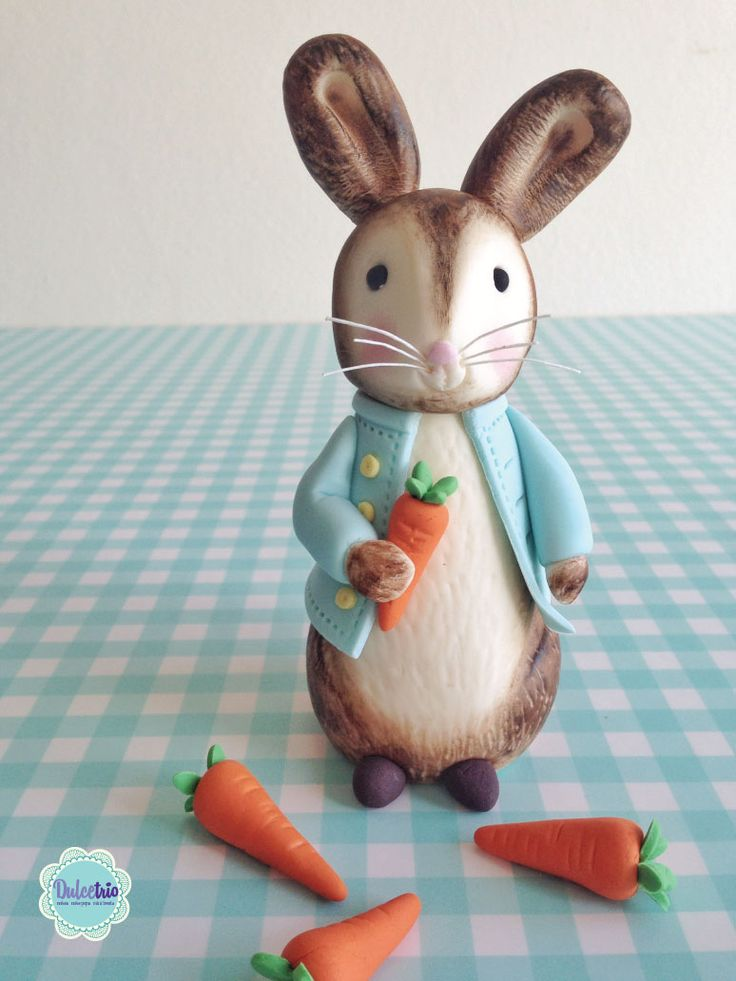 Peter rabbit!!! a cute cake topper made for a #baby #showercake