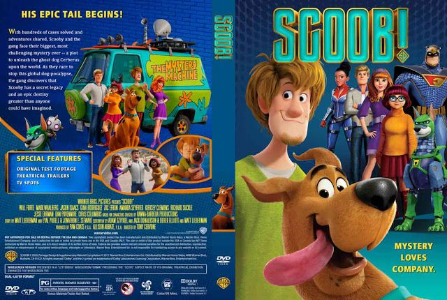 Scoob 2020 Dvd Cover Scooby Doo Mystery Inc Dvd Covers Scooby