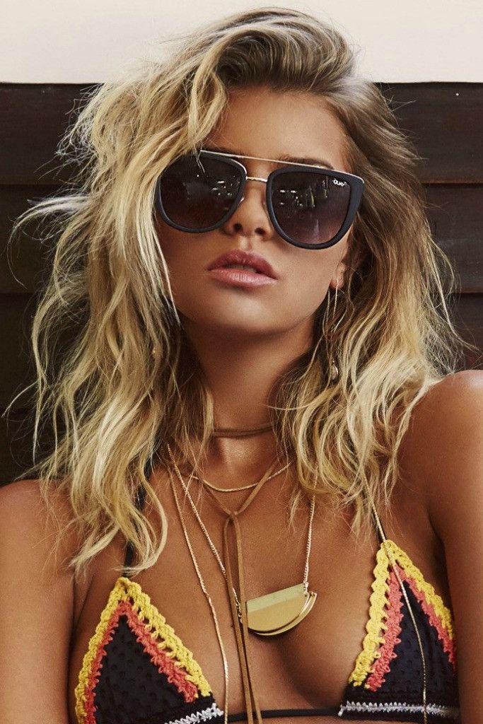 Quay Australia - French Kiss Black Smoke Designer Sunglasses