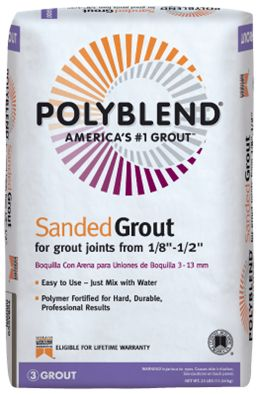 Polyblend: Sanded Cement Grout - Used this grout in the Wood Stove area - Dove Grey
