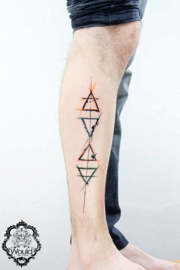 geometric ankle tattoo men - Google Search