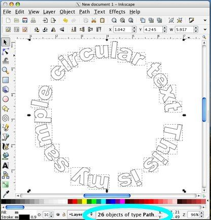 words in a circle