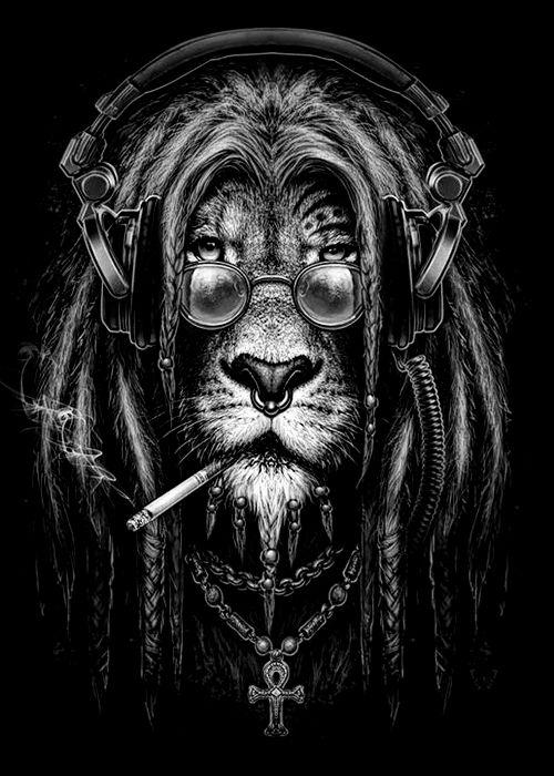 whitesoulblackheart:  Lion rasta byKamila Sharipova © Dont worry bout a thing,cause every little thing gonna be all right♪ヽ( ⌒o⌒)人(⌒-⌒ )v ♪ (Please leave credit …Ƹ̴Ӂ̴Ʒ)