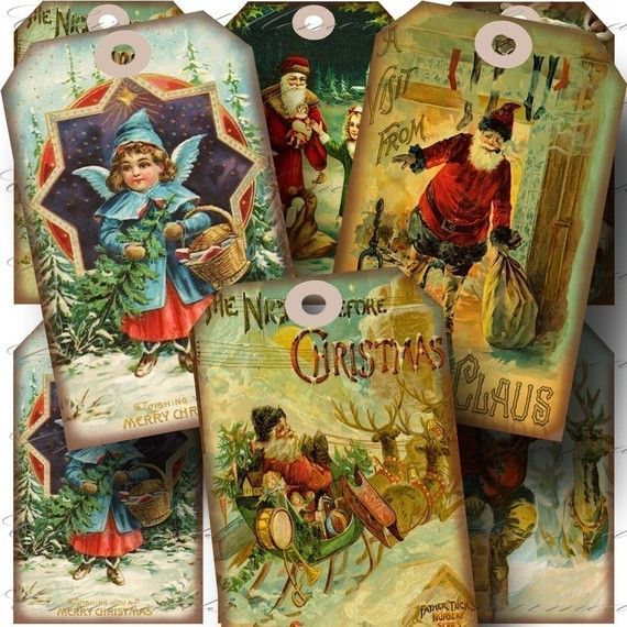 INSTANT Download  Aged Vintage Christmas 2 by CharmedMemoryCollage, $3.50