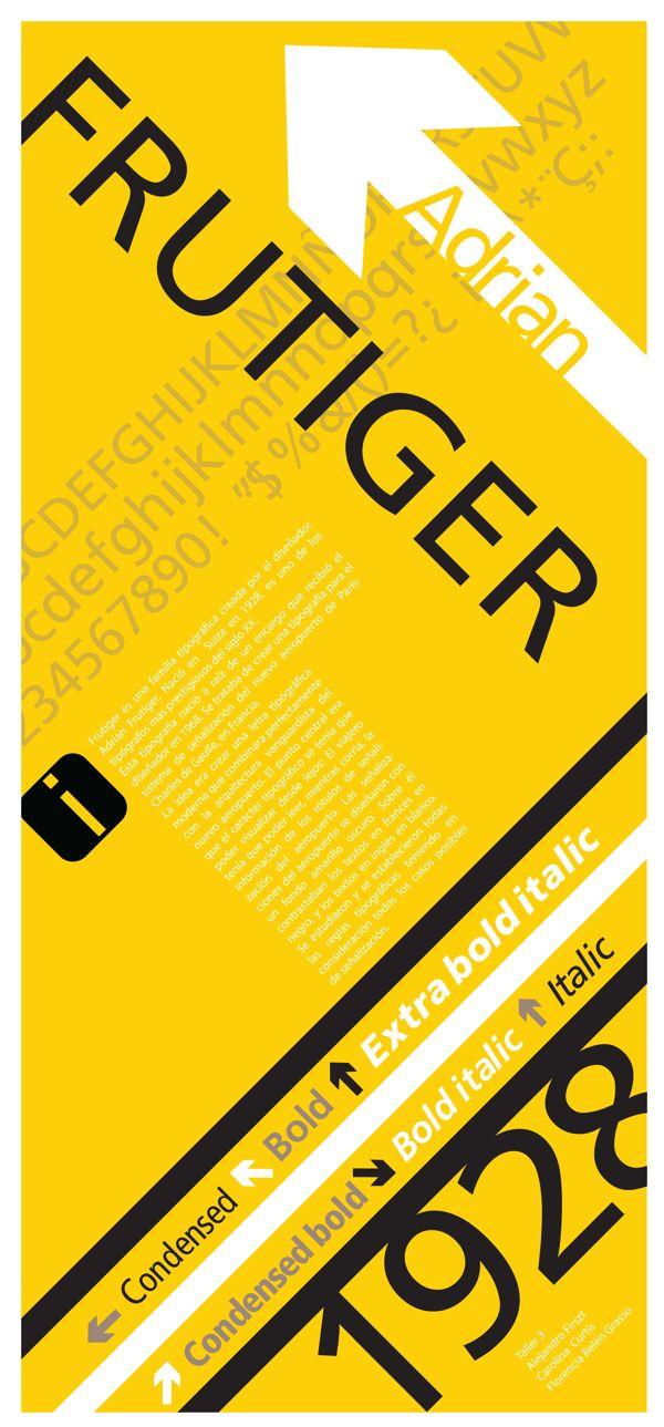 Frutiger Poster on Behance