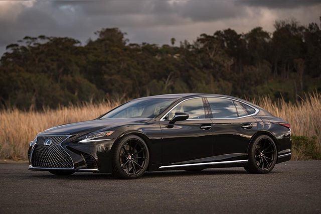 """""""@lexuswesternarea has teamed up to make one incredibly sexy daily driver! Twin turbo V6 putting out 416hp hitting 60 in 4.6 seconds. Sitting on 21"""" HRE P 204 wheels in satin black. This will be their lead vehicle on the upcoming LS Desert Run leaving Huntington Beach Hyatt via police escort Feb 8th.  @michelinusa  @hre_wheels  @motherspolish @lexususa  @protectivefilmsolutions  #lexus #lexusls  #lexusls500 #turbo #twinturbo #luxury #luxurycar #luxurylife #style #sexy #michelin #customshoes…"""