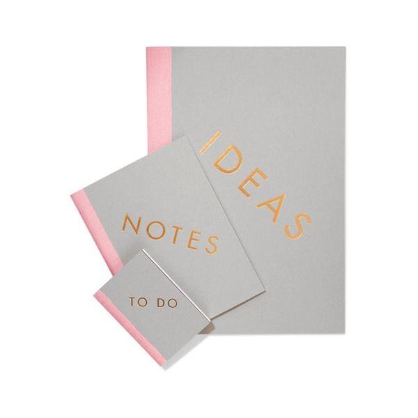 StudioSarah - Set Aus Drei Notizbüchern - Plane jetzt das neue Jahr #notebook #netaportet