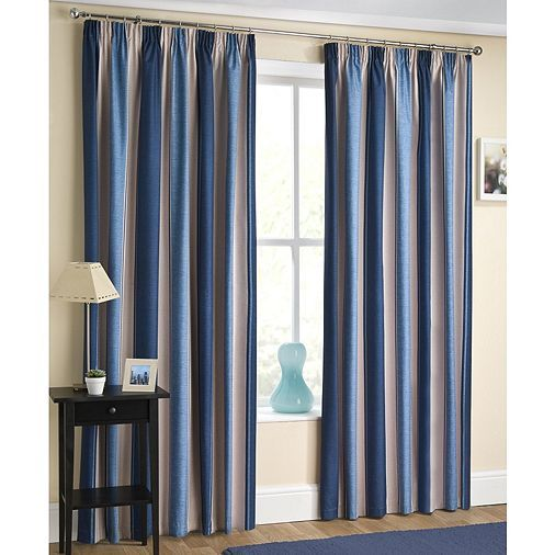 Tesco direct: Enhanced Living Twilight Navy Pencil Pleat Curtains - 66x72 Inches (168x183cm)