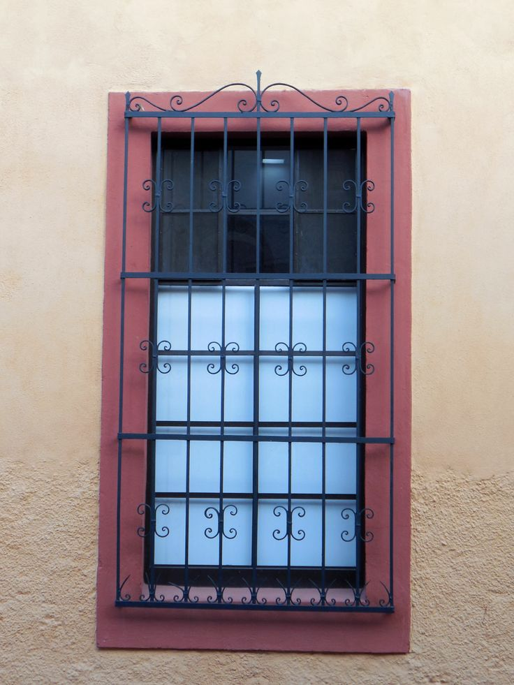Barred window.