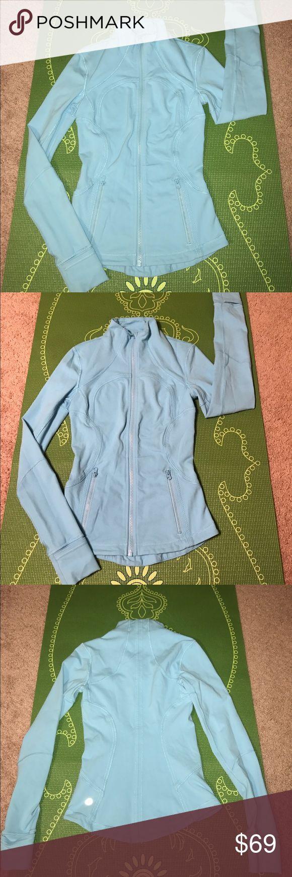 Lululemon angel blue zip up Lululemon zip up. Used but good condition. Beautiful rare color. Turquoise blue. Size tag missing, fits like 2 lululemon athletica Jackets & Coats