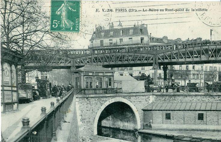 PARIS 19 - Le Métro au Rond-Point de la Villette -Kiosque CGO- - Bassin de la Villette — Wikipédia