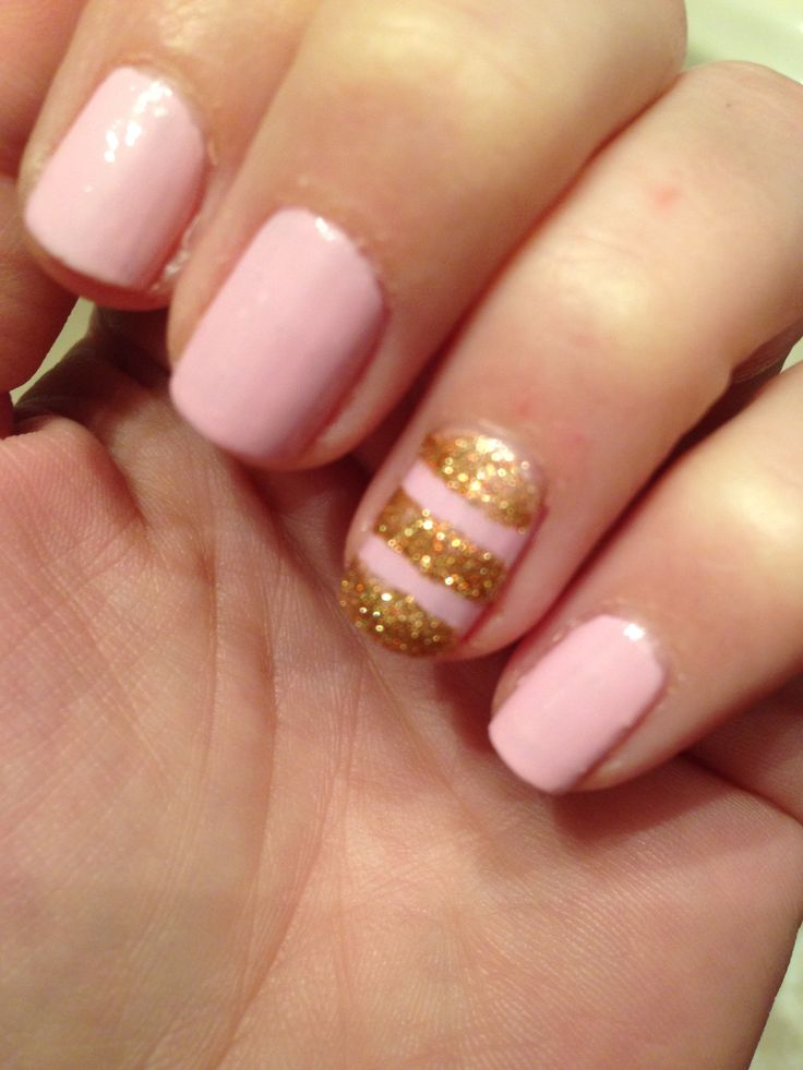 Pink and Gold Glitter #passthepolishplease