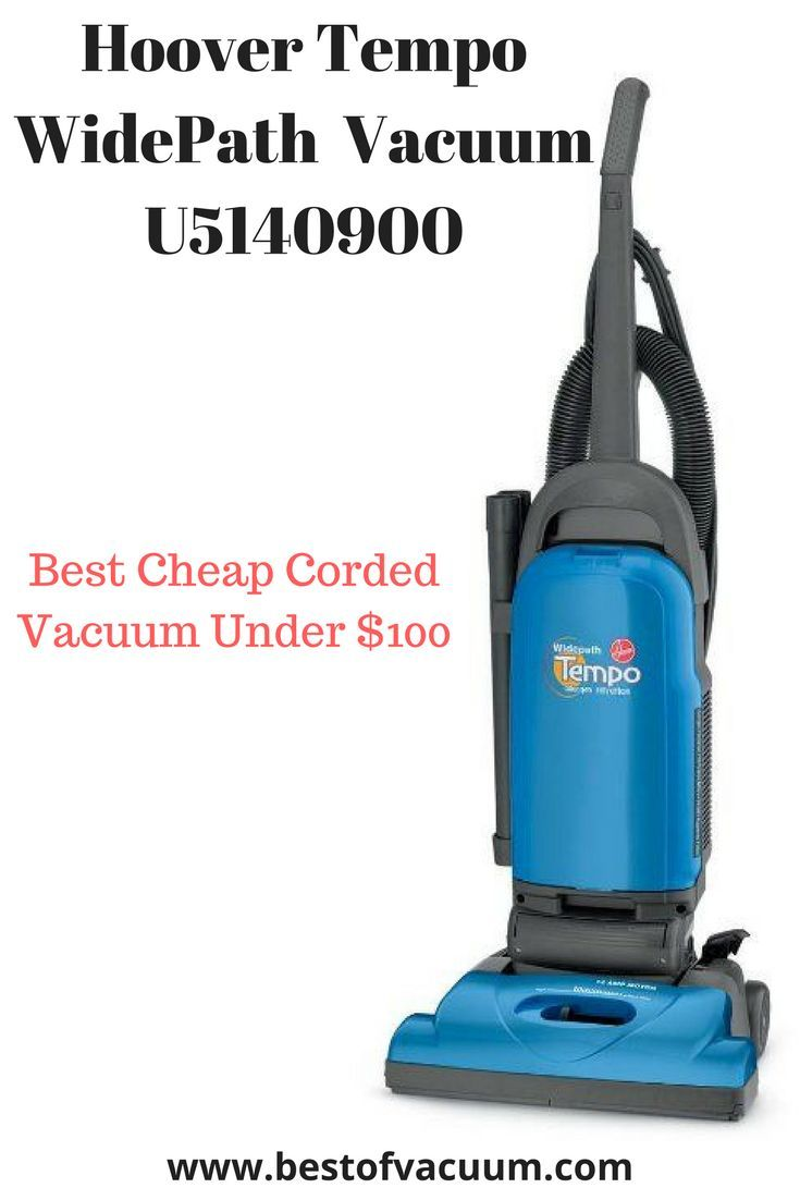 Hoover Vacuum Cleaner Tempo WidePath Bagged Corded Upright Vacuum U5140900 - best Cheap Corded Vacuums Under $100
