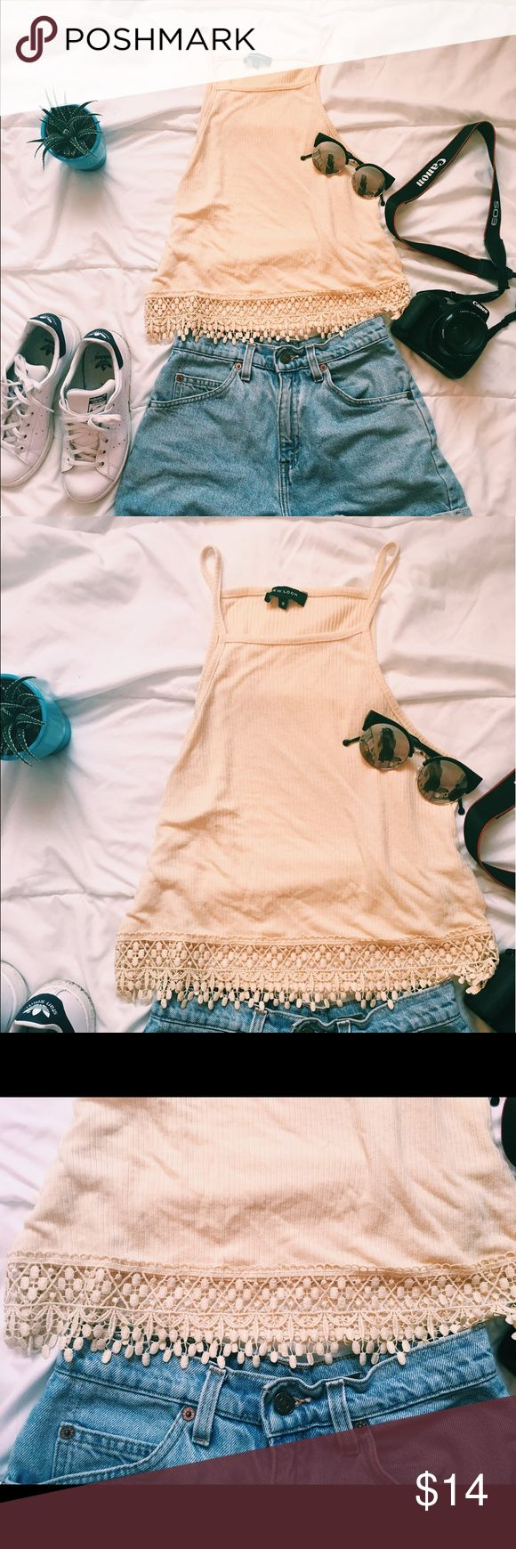 ✨ New Look Yellow Crop Top ✨ Bought in France! Worn only once, super stylish can't fit a small or medium, shorts for sale on another post 💕 New Look Tops Crop Tops