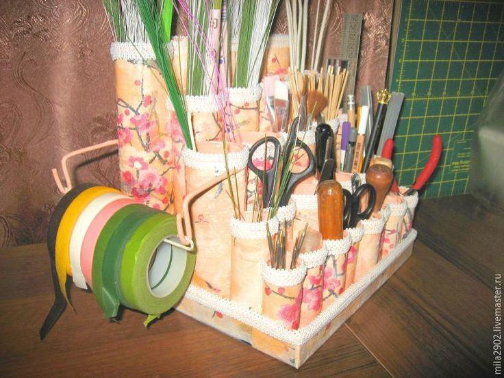 «Я ее слепила из того, что было»: делаем подставку для проволоки и других принадлежностей - Ярмарка Мастеров - ручная работа, handmade