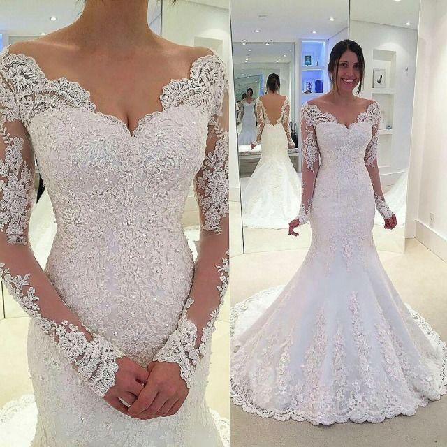 Mermaid and Sleeves Wedding Dress M-2271
