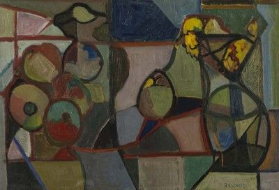 Enzo Brunori - Natura Morta (1950) - Olio su cartone, cm. 35x50