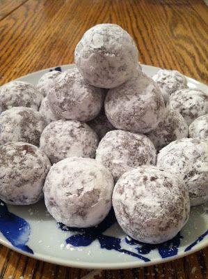 Rum Balls... Holiday no-bake cookies