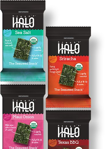 Made from only seaweed and other real ingredients, Ocean's Halo Seaweed Chips are swimmingly delicious and nutritious. Discover a new kind of chip.