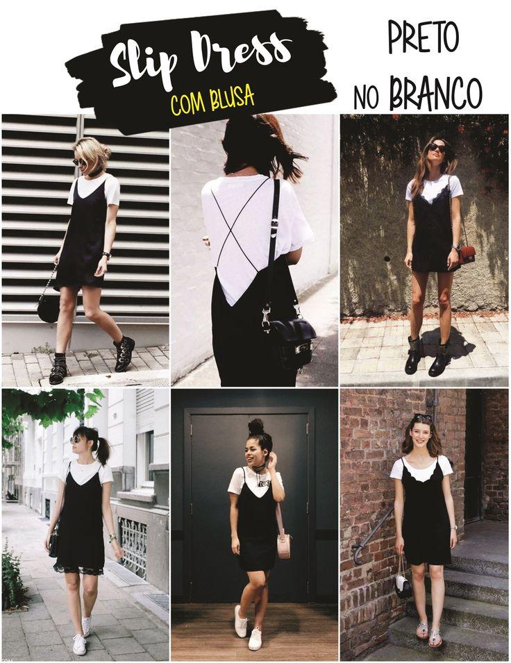 Vestido com camiseta por baixo   Como usar SLIP DRESS com blusa   Tendência 2016   '90s-Inspired