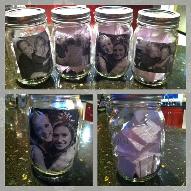 Memory Mason Jars Use Modge Podge And A Computer Printed