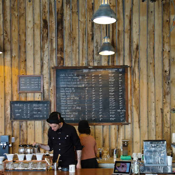 Stumptown coffee shop and brew bar in Red Hook, brooklyn