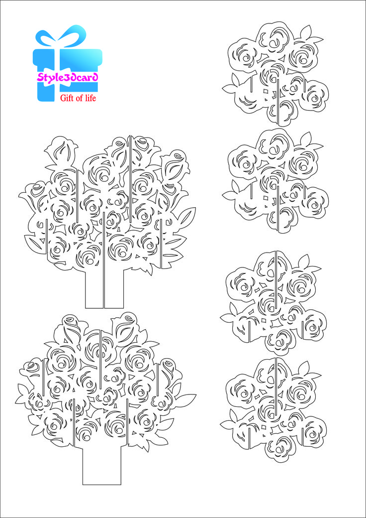 Rose pattern kirigami 1
