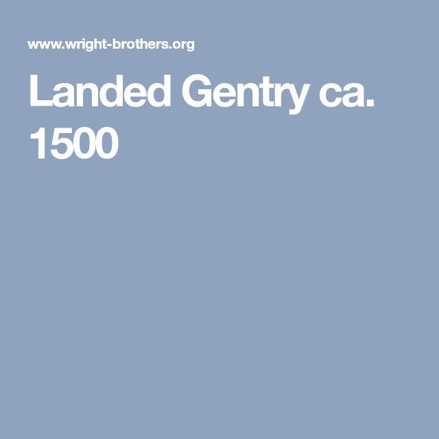 Landed Gentry ca. 1500