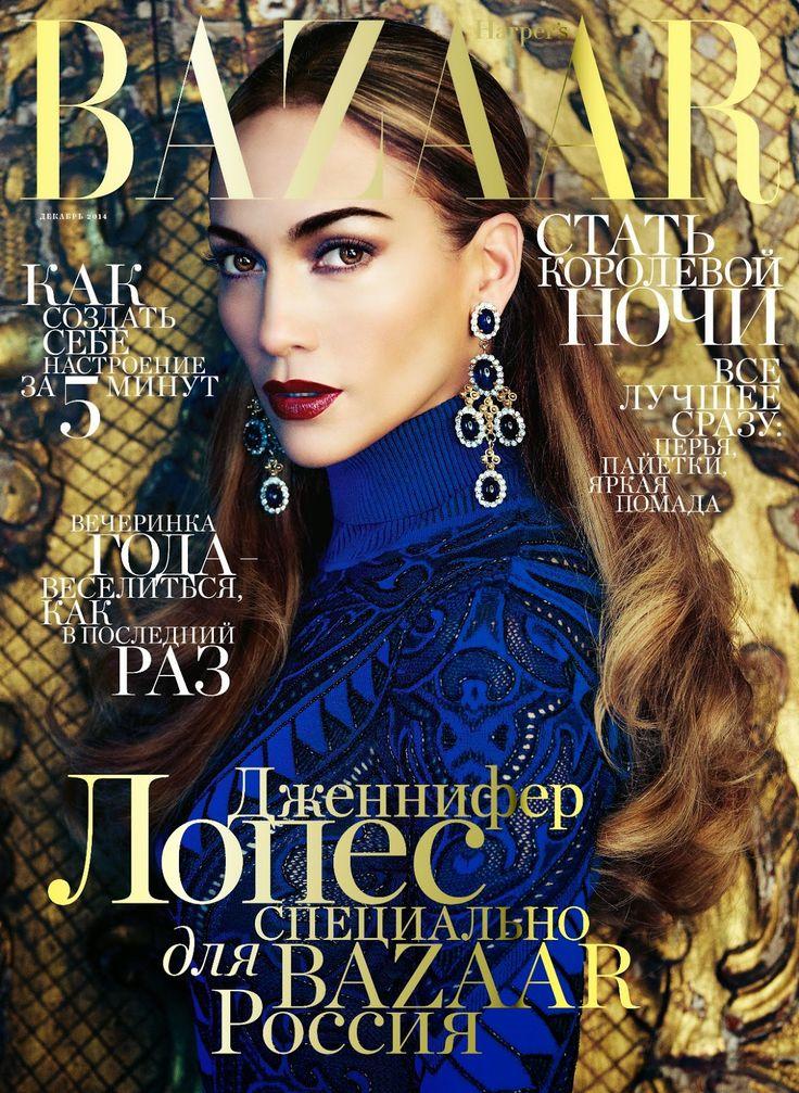 Harper's Bazaar Russia December 2014 issue : Celeb : Jennifer Lopez Photographers : Steven Gomillion & Dennis Leupold