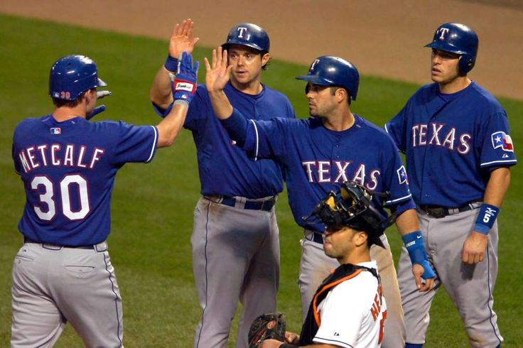 August 22,2007: TEXAS RANGERS BECOME FIRST TEAM TO SCORE 30 RUNS IN A GAME  -   The Texas Rangers becomes the first team in 110 years to score 30 runs in a game, setting an American League record in a 30-3 rout of the Baltimore Orioles in the first game of a doubleheader.
