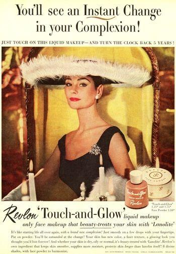 1950s ad for Revlon cosmetics: