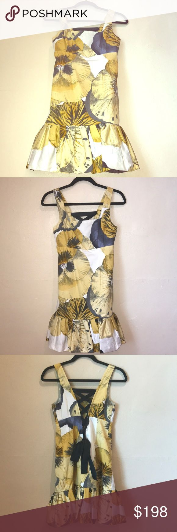 """NWT Anthropologie Leifsdottir Sz2 Super-cute Dress Feel super rich in this! The fabric is awesome. Sz2 *NWT*LEIFSDOTTIR-Anthropologie yellow/gold/gray/black/white/pink . I would totally wear this in the Fall. Too cute•34""""L•14""""underarms•13""""Empire Waist•13.75"""" Waist•15""""Hips•Dry-Clean only. Feel free to ask questions. Thanks so much! Anthropologie Dresses Mini"""