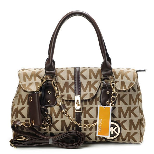 You Can Enjoy Wonderful Life With The Best Michael Kors Logo Chain Large Beige Satchels!