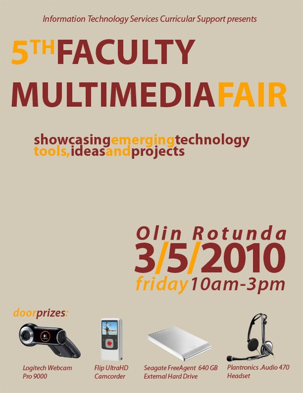 5th Faculty Multimedia Fair poster - Union College